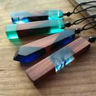 2017 HOT Handmade Resin Wood Pendant Necklace Wooden Jewelry