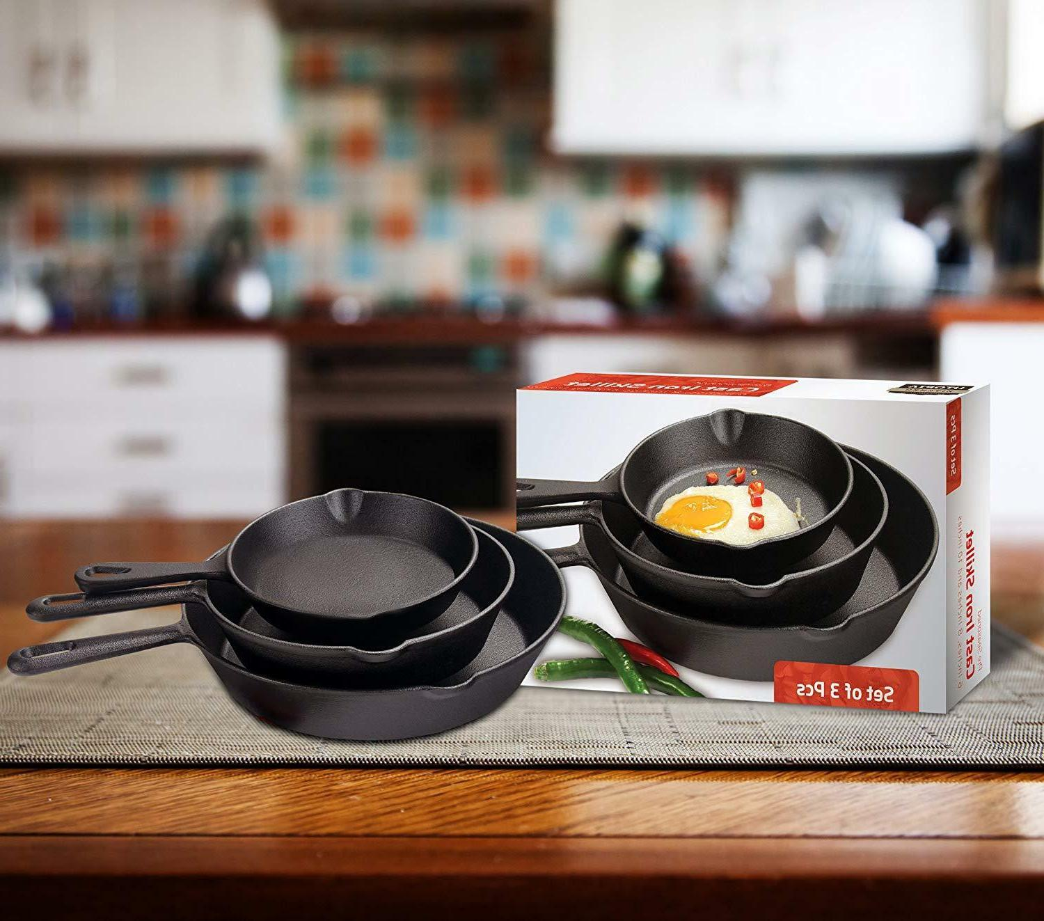 3 Pre 10 Oven Fry Pans Cookware