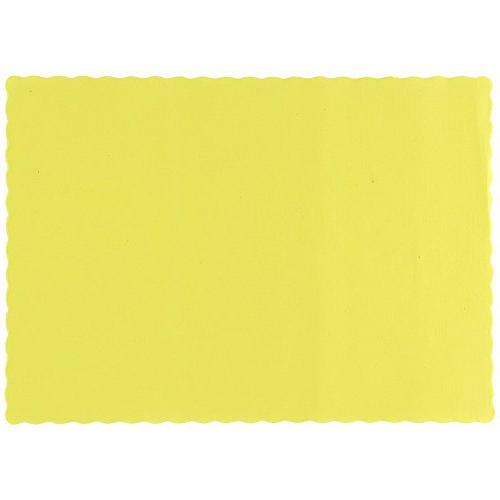 310553 yellow paper placemat
