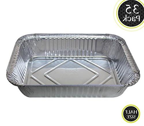 35 Pack - Durable Chafing Pans, Half Size Roasting Pans - Di