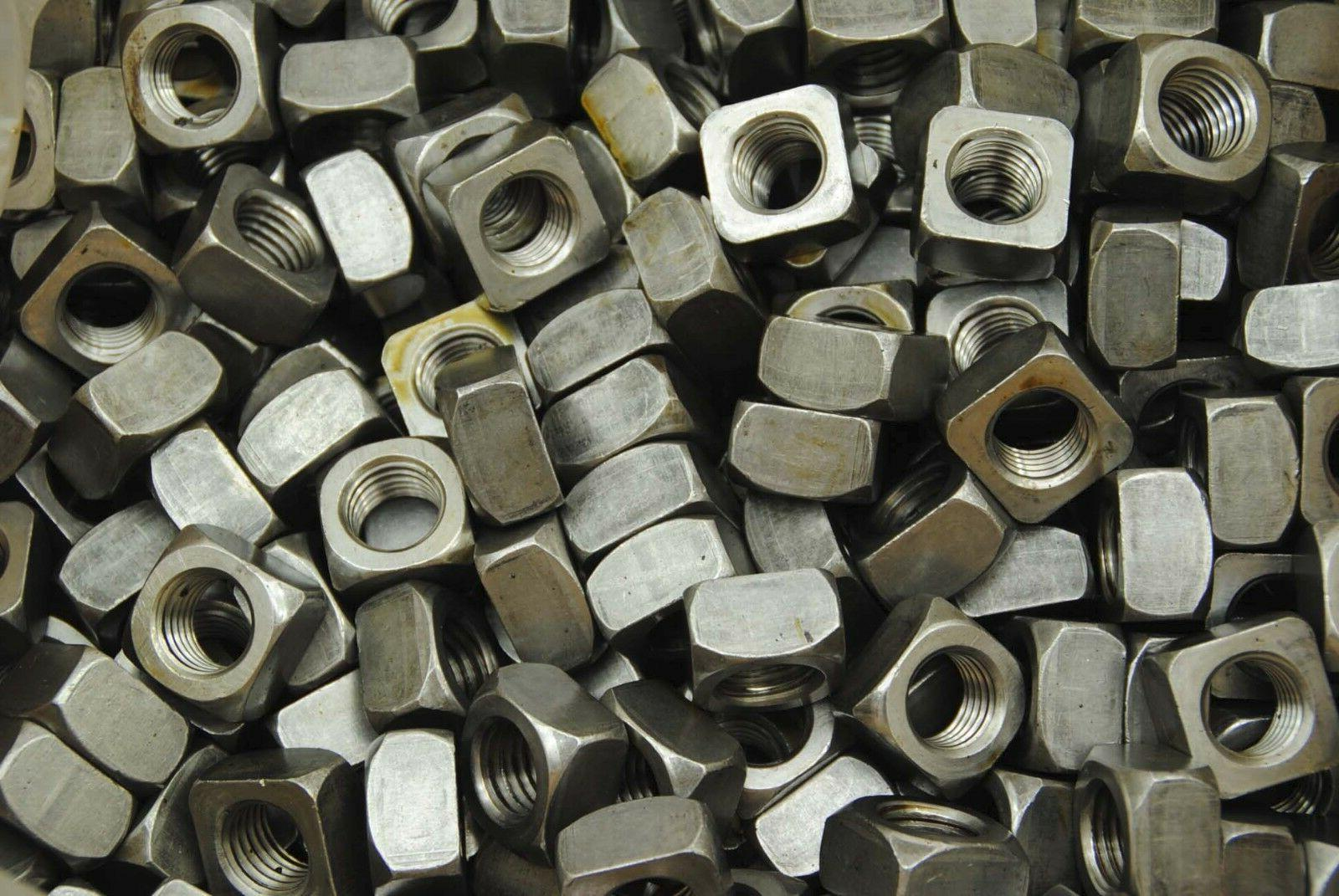 50 unplated 3 4 10 square nuts