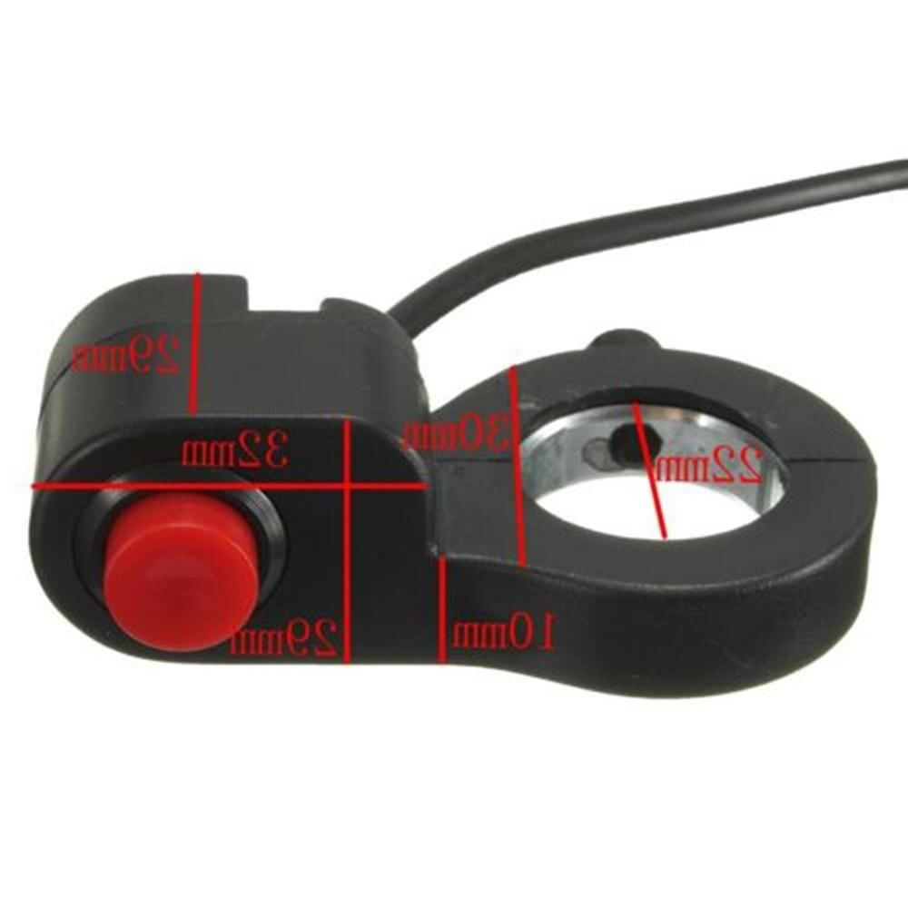7/8'' Motorcycle Horn Start Button Switch Design Multiple