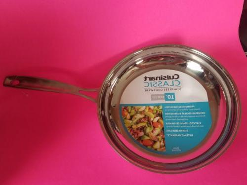 """Cuisinart 8722 Chef's Stainless 10"""" Inch Skillet"""