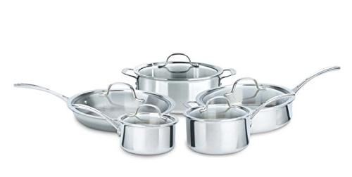 Calphalon 10 Piece Tri-Ply Cookware Set, Medium, Stainless S