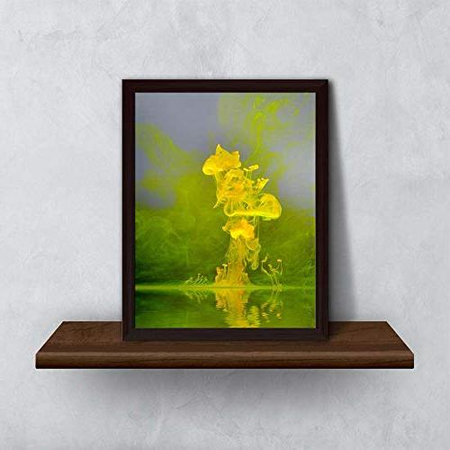 ArtzFolio Abstract Yellow Brown x 10inch