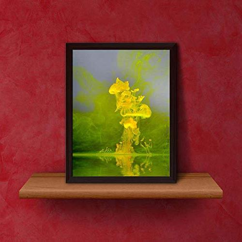 ArtzFolio Abstract Floating Yellow Brown x 10inch