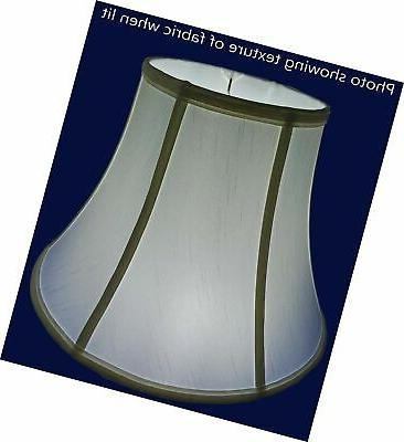 """American 10""""x 22""""x 15"""" Round Tailored Lampshade, Off-white"""