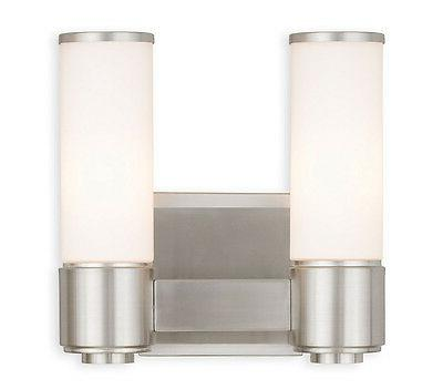 Livex Brushed Nickel 2 Light Weston Wall Sconce Lighting Fix