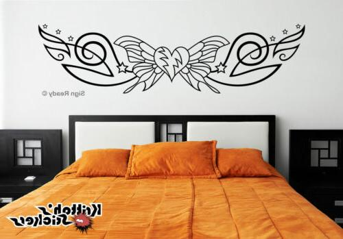 BUTTERFLY WITH STARS Vinyl Wall Decal bedroom decor art pin