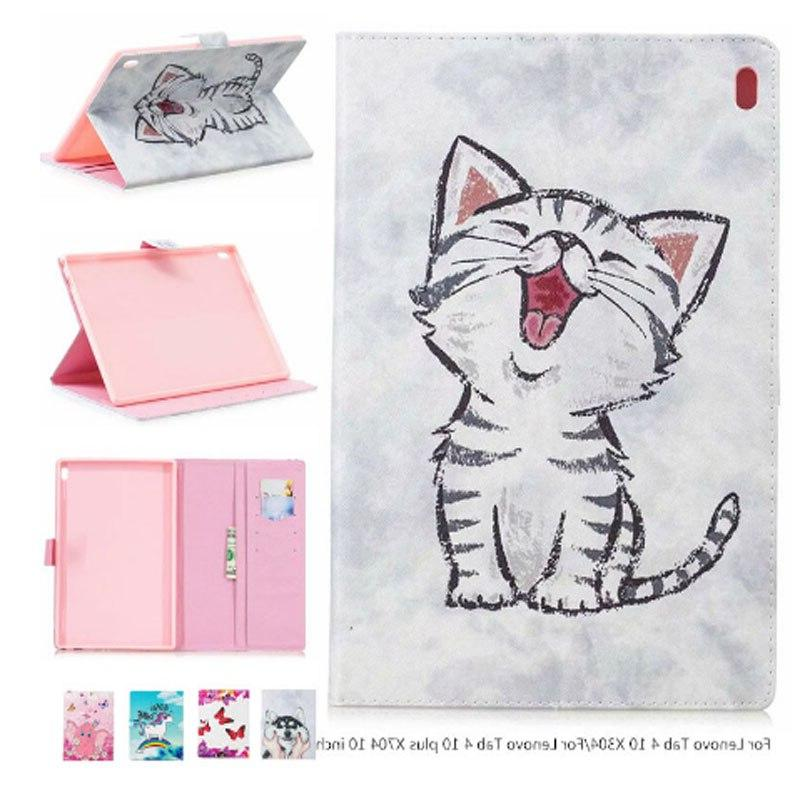 Case Cover For Lenovo Tab TB-X704L Cases Smart Protective Leather Tab4 TB