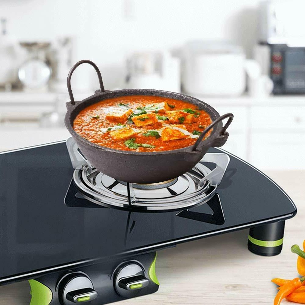 Cast Iron Cookware -Dosa Tawa, 10 Inch and Kadai