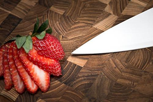 Chef Kitchen Knives Professional Grade German Carbon 15 Pro Sharpened made and Restaurant