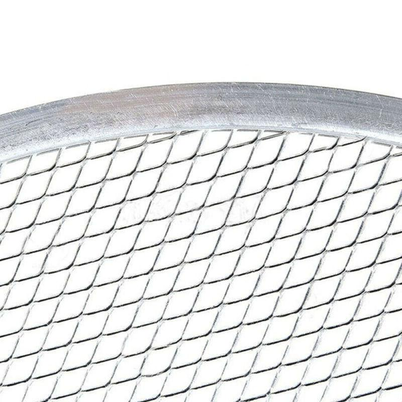 New Net Flat Aluminium Mesh Pizza Plate Pan