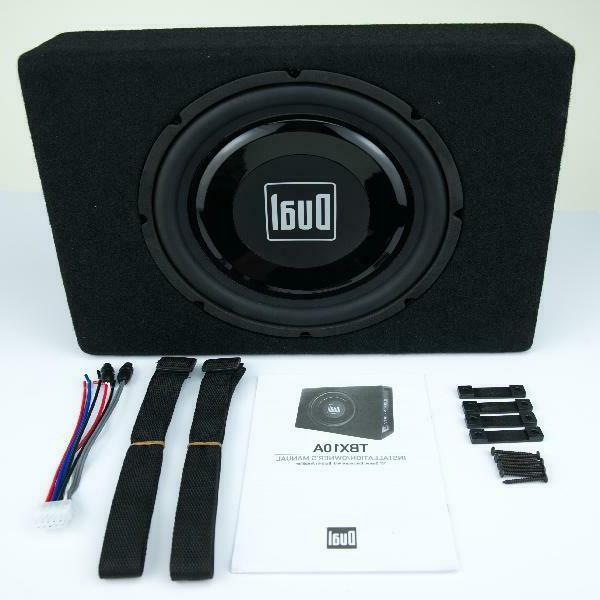 Dual Electronics TBX10A 10 inch Performance Powered Enclosed Subwoo