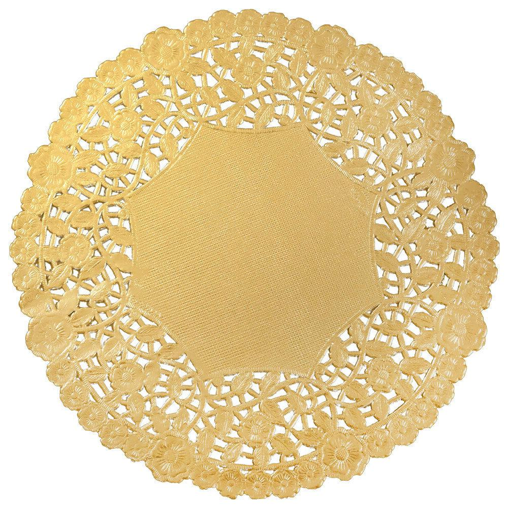 "GOLD FOIL Paper Doilies | 4"" 6"" 8"" 10"" 12"" 