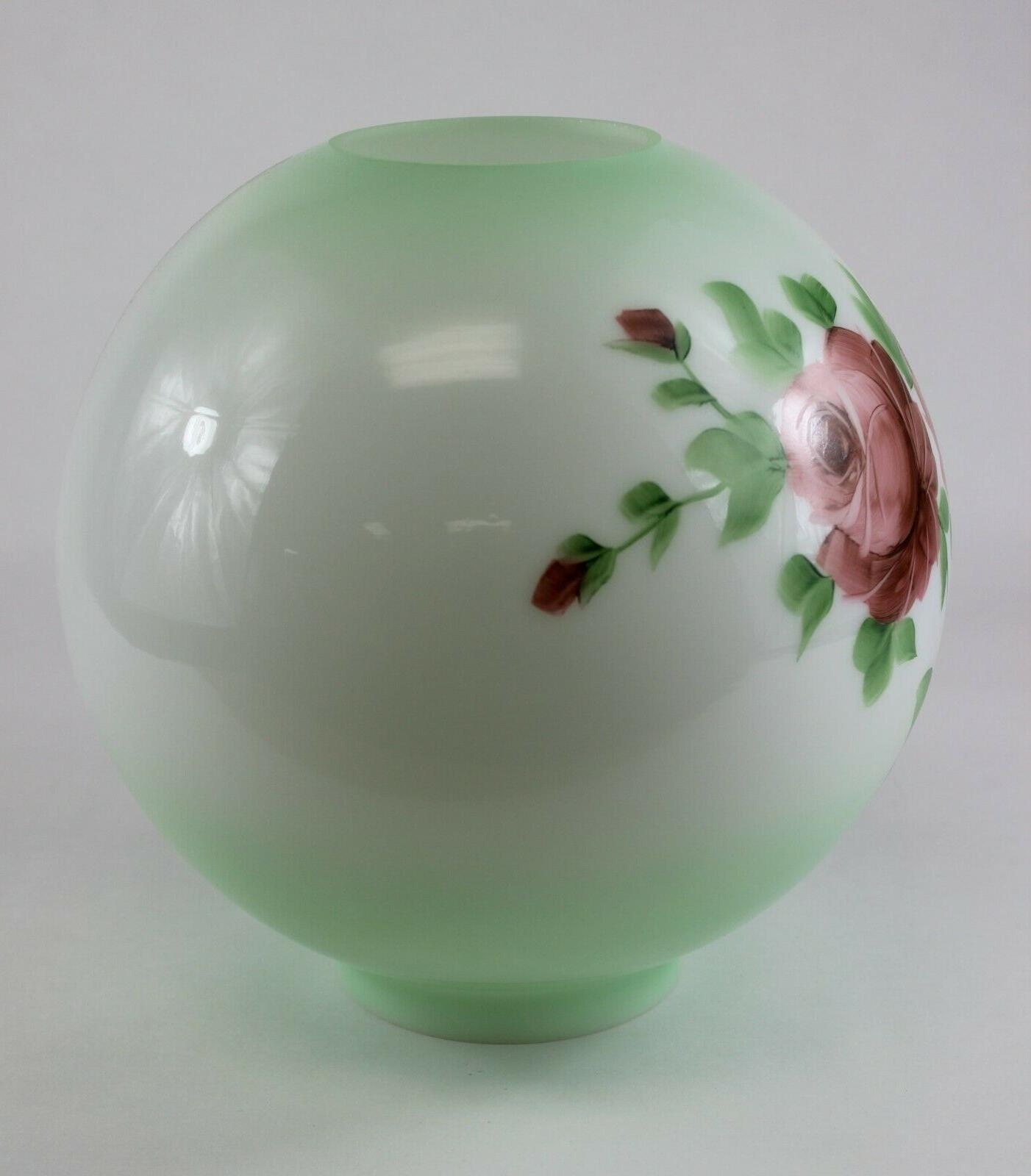 Green Inch Glass Shade with Painted