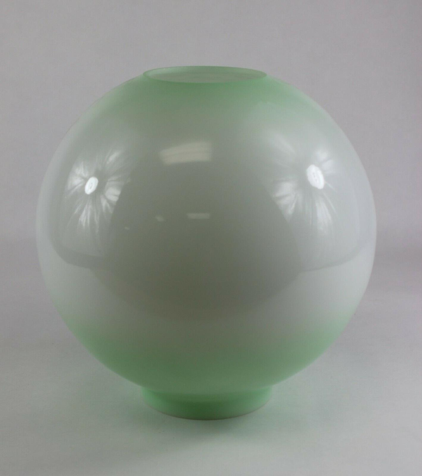 Green Ball Glass Lamp Shade Painted 4 Fitter