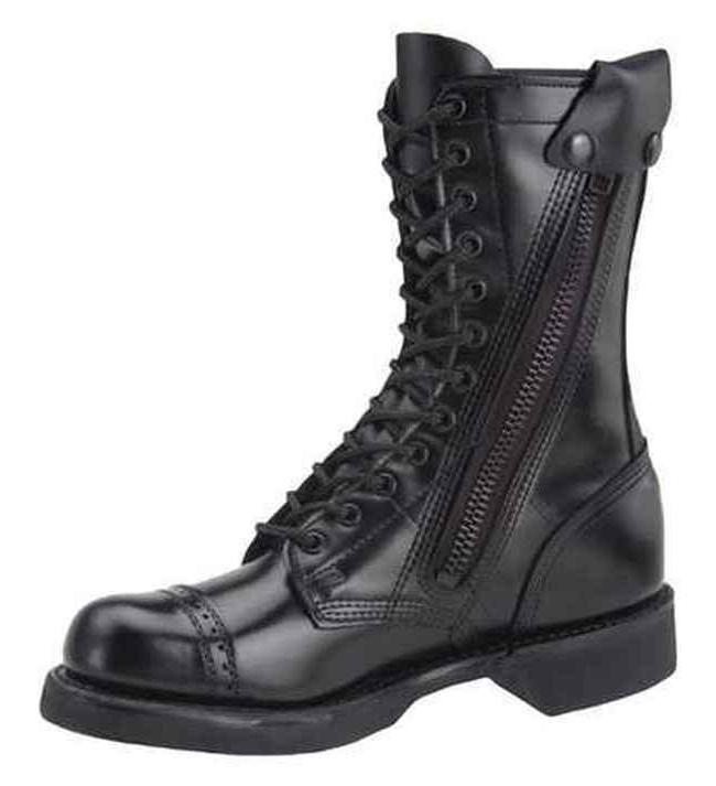 CORCORAN JUMP BOOTS 10 INCH SIDE ZIPPER ALL LEATHER MADE IN
