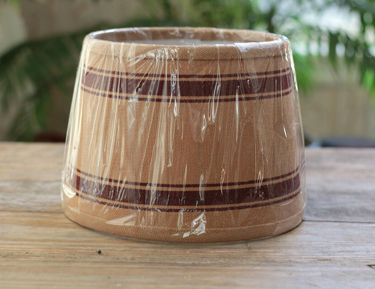 Lamp Shade 10 Drum Burlap Rustic Bella Trace Clip Top