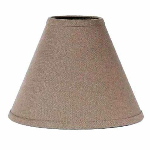 lamp shade 10 inch solid tan cotton