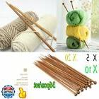 LOT 10 inch 18 pairs Bamboo Wood CarbonizeSingle Pointed Kni