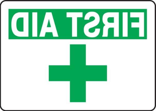 mfsd923vp plastic safety sign legend first aid
