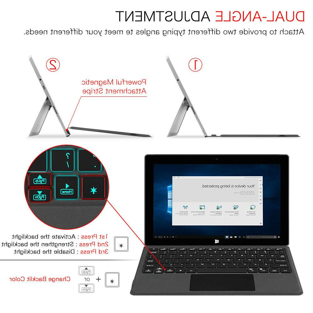 For Microsoft Surface 10 Inch Type Cover Backlit Bluetooth Keyboard