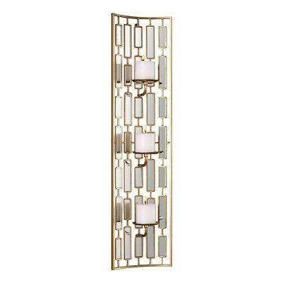 mirrored candleholder wall sconce