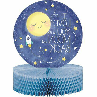 To The Moon And Back Centerpiece Baby Shower Stars Decoratio