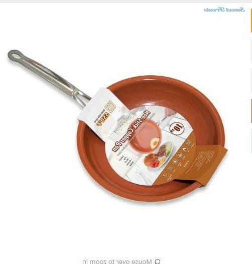 non stick copper frying pan ceramic coating