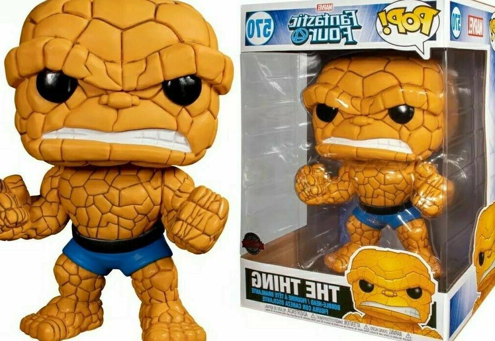 "Funko Pop! Fantastic Four The Thing 10"" 10 Inch Target Exc"