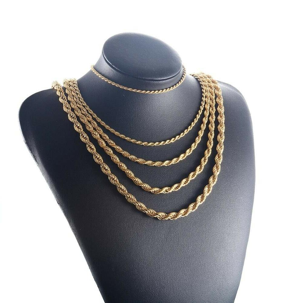 pure real10k solid yellow gold 4mm rope