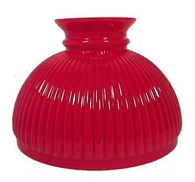red cased glass ribbed 10 inch student