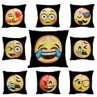 Reversible Emoji Expression Sequin Mermaid Pillow Cushion Co