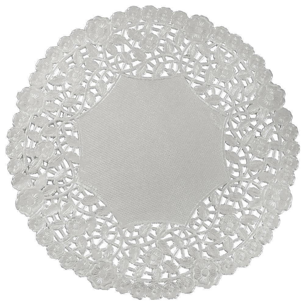 "SILVER FOIL Paper Doilies | 4"" 6"" 8"" 10"" 12"" 