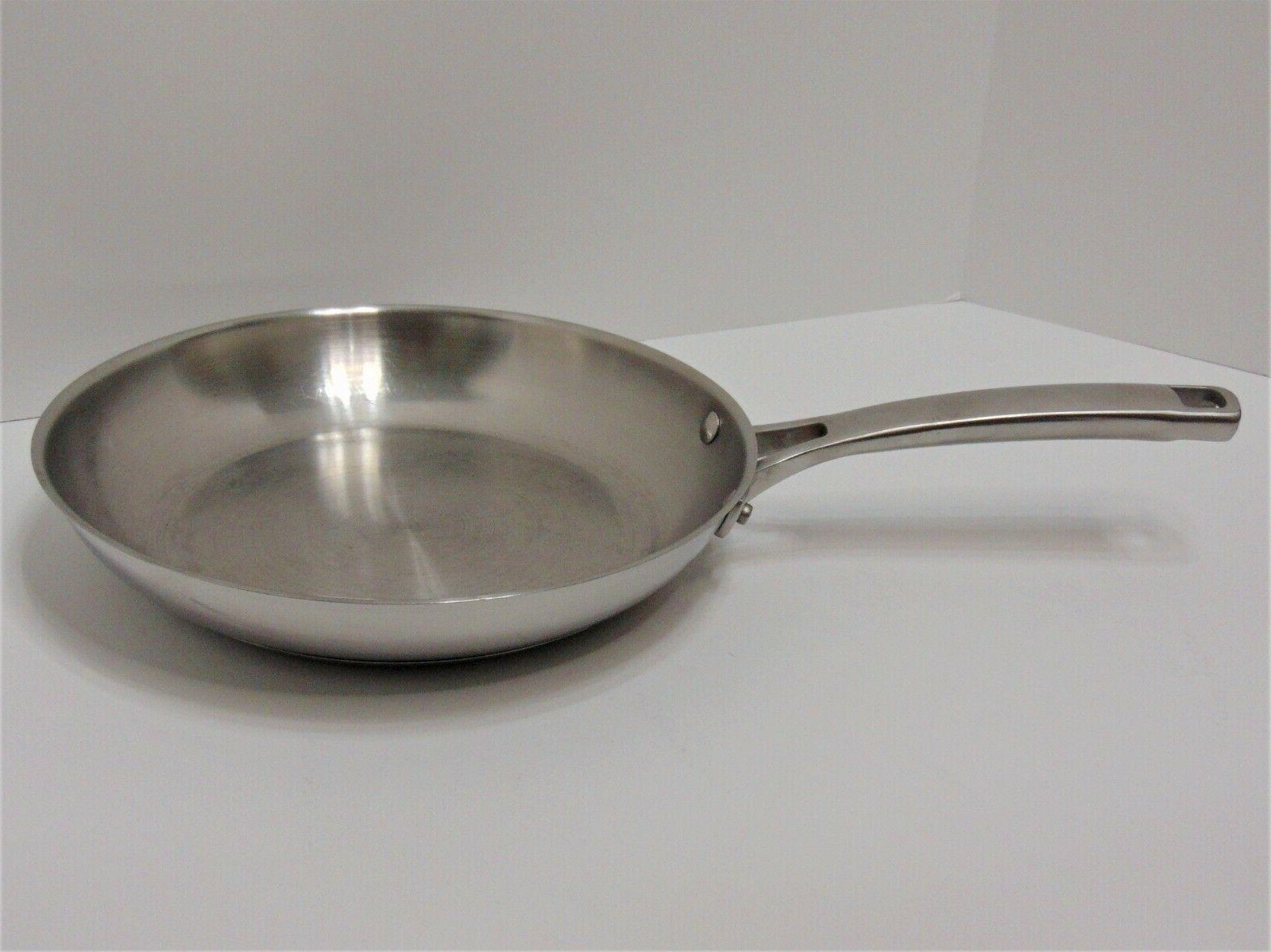 stainless steel 10 inch tri ply skillet