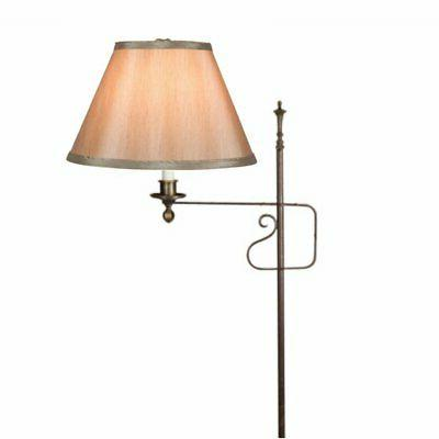 tan silk 10 inch clip on lampshade