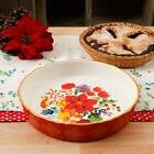 The Pioneer Woman Winter Bouquet 10-Inch Pie Pan, Red Baking