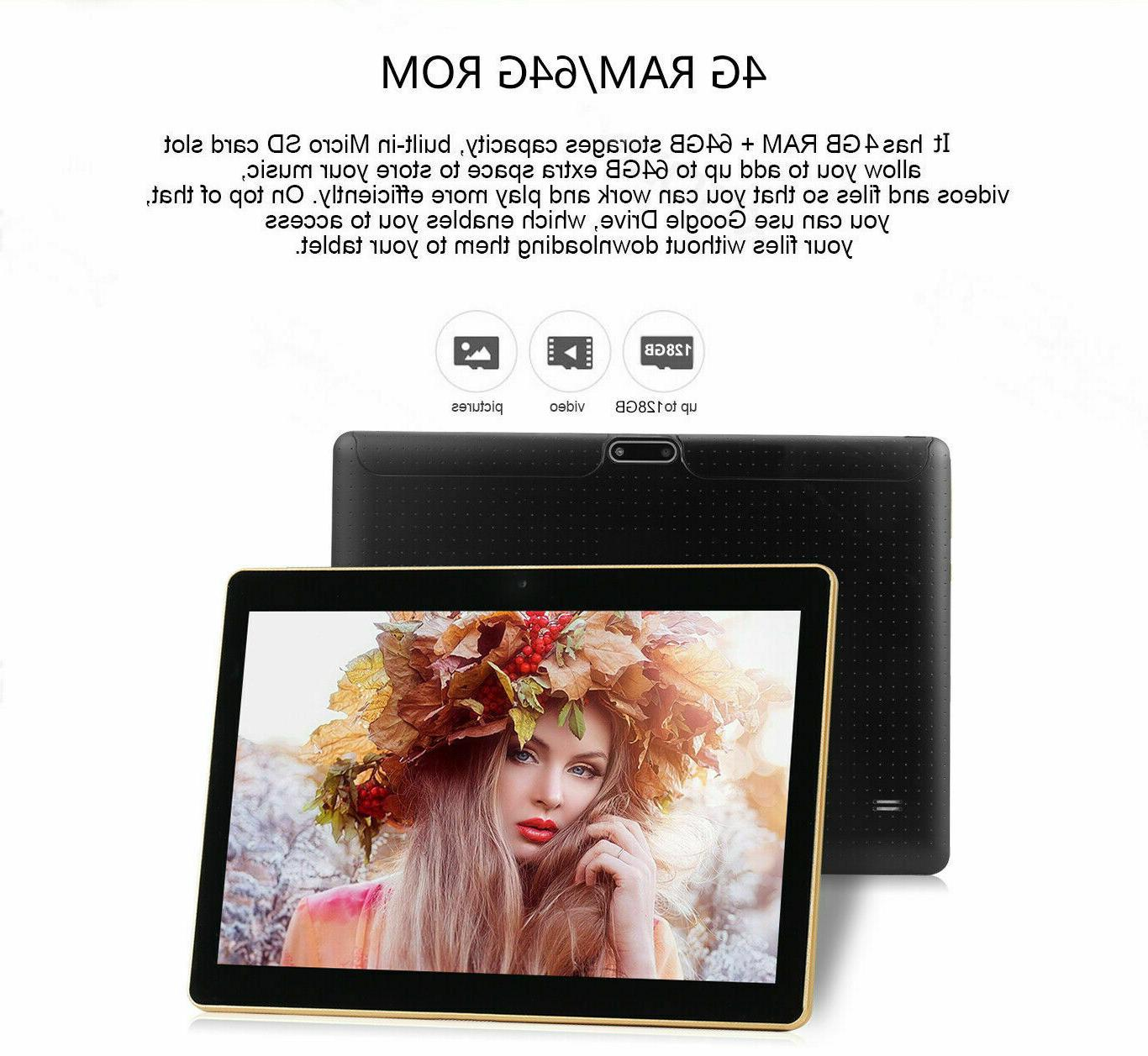 USA Android Tablet 10 64GB 4G 2 Black