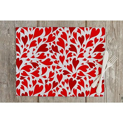 valentine hearts table mat placemat