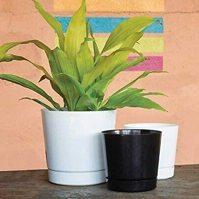 white cylinder pot 10 inch full depth