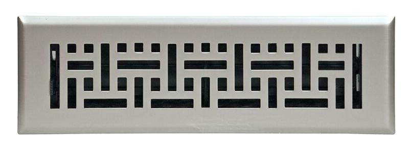 wicker design floor register satin nickel 2
