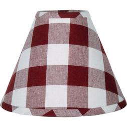 Lamp Shade 10 inch Buffalo Check Red Country Decor Ring Clip