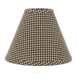 Lamp Shade 10 inch Gingham Check Black Primitive Country Dec