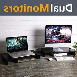 Rfiver Wood Monitor Stand Riser for TV PC iMac Laptop Printe