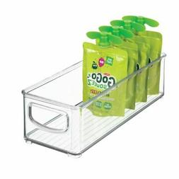 mDesign Stackable Plastic Food Storage Bin with Handles for