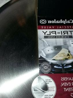 New Calphalon 10 inch stainless steel three layer omelette p