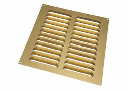 NEW 10 of 9 X 9 Inches Aluminium Gold Louvre Grille Vents Ve