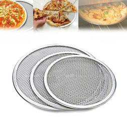 New Kitchen Flat Cookware Baking Tray Plate Pan Pizza Screen