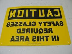 NEW ACCUFORM MPPA617VS CAUTION SAFETY SIGN, 10X14 INCH, VINY